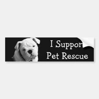 私はペット救助を支えます バンパーステッカー