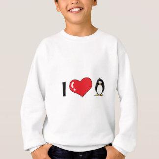 私はペンギンを愛します スウェットシャツ
