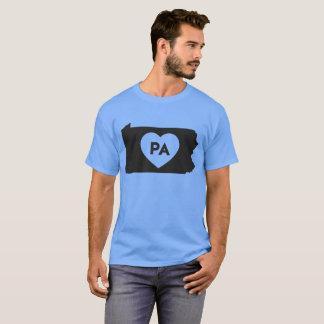 私はペンシルバニアの州の人の基本的な暗いTシャツを愛します Tシャツ