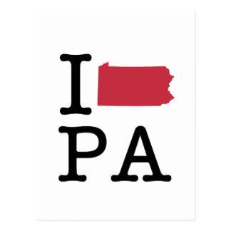 私はペンシルバニアを愛します ポストカード