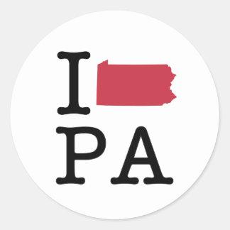 私はペンシルバニアを愛します ラウンドシール