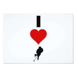 私はホッケーを愛します(縦) カード