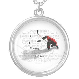 私はホッケー選手のネックレスです シルバープレートネックレス