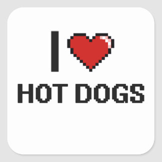 私はホットドッグを愛します スクエアシール