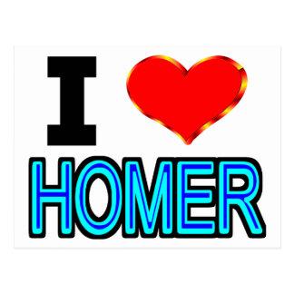 私はホーマーを愛します ポストカード