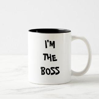 私はボスです ツートーンマグカップ