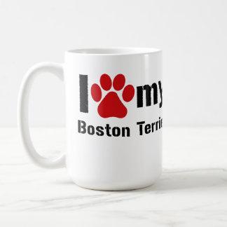 私はボストン私のテリアを愛します コーヒーマグカップ