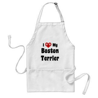 私はボストン私のテリアを愛します スタンダードエプロン