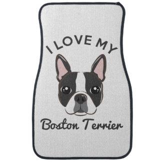 """""""私はボストン私のテリア""""のカーマット愛します カーマット"""