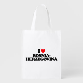 私はボスニア・ヘルツェゴビナを愛します エコバッグ