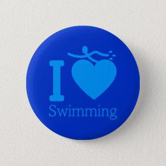私はボタンを泳ぐことを愛します 5.7CM 丸型バッジ