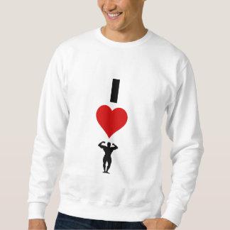 私はボディービルをやることを愛します(垂直) スウェットシャツ