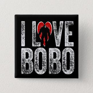 私はボボを愛します 5.1CM 正方形バッジ