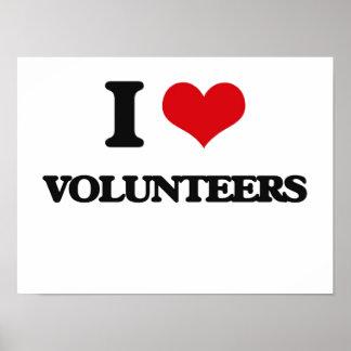 私はボランティアを愛します ポスター