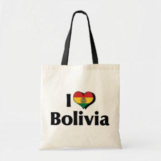 私はボリビアの旗を愛します トートバッグ