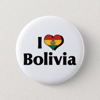 私はボリビアの旗を愛します 5.7CM 丸型バッジ