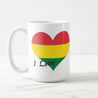 私はボリビアを愛します コーヒーマグカップ