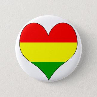 私はボリビアを愛します 5.7CM 丸型バッジ