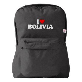 私はボリビアを愛します AMERICAN APPAREL™バックパック