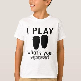 私はボンゴを遊びます Tシャツ