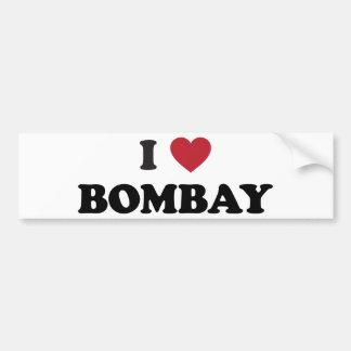 私はボンベイインドを愛します バンパーステッカー
