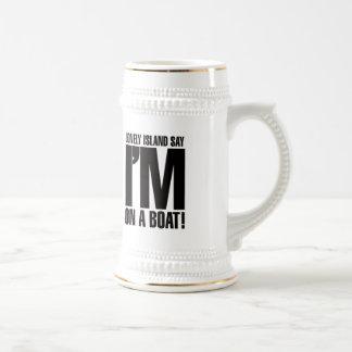 私はボートにあります ビールジョッキ
