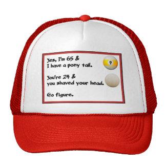 私はポニーテールとの65才です。 それはyaへである何か。! 帽子
