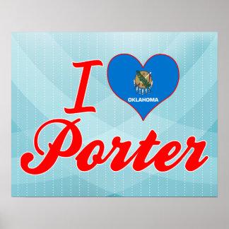 私はポーターを愛しますオクラホマ、 ポスター