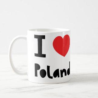 私はポーランドを愛します コーヒーマグカップ