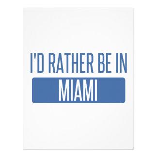 私はマイアミにむしろいます レターヘッド