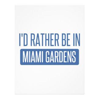 私はマイアミの庭にむしろいます レターヘッド