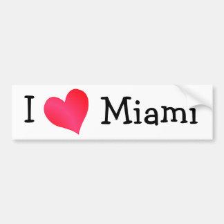 私はマイアミを愛します バンパーステッカー