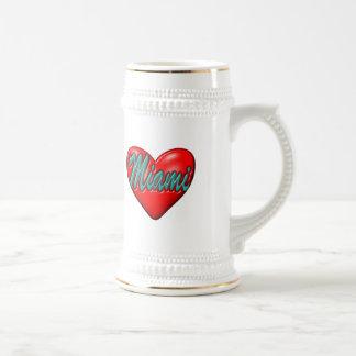 私はマイアミを愛します ビールジョッキ