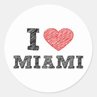 私はマイアミを愛します ラウンドシール