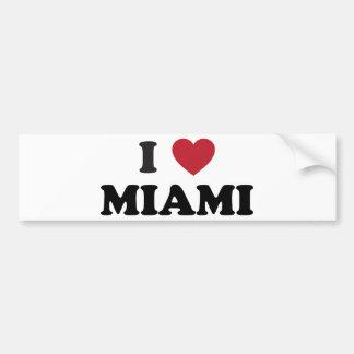 私はマイアミフロリダを愛します バンパーステッカー