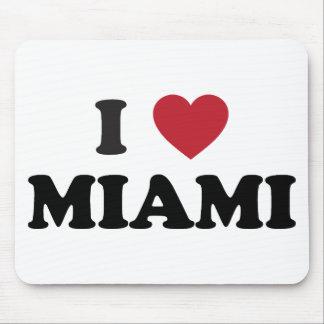 私はマイアミフロリダを愛します マウスパッド