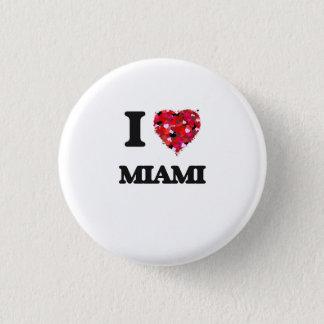 私はマイアミフロリダを愛します 缶バッジ