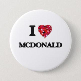 私はマクドナルドを愛します 7.6CM 丸型バッジ