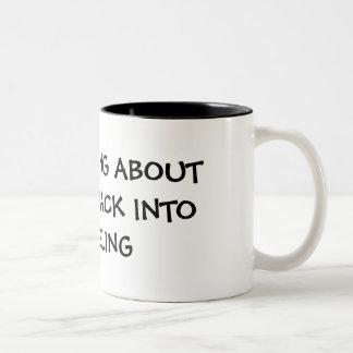 私はマグの模倣に再び得ることについて考えるです ツートーンマグカップ