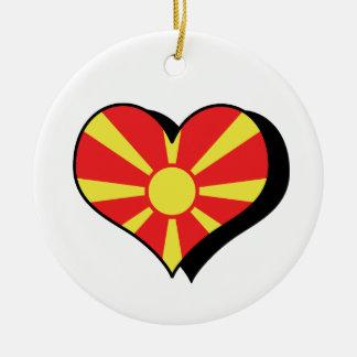 私はマケドニアの旗のオーナメントを愛します セラミックオーナメント