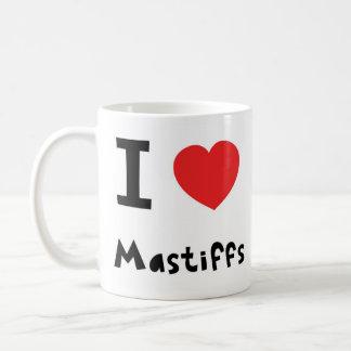 私はマスティフを愛します コーヒーマグカップ