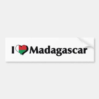 私はマダガスカルの旗を愛します バンパーステッカー