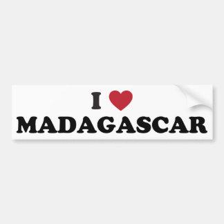 私はマダガスカルを愛します バンパーステッカー