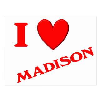 私はマディソンを愛します ポストカード