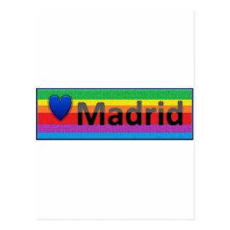 私はマドリードを愛します ポストカード