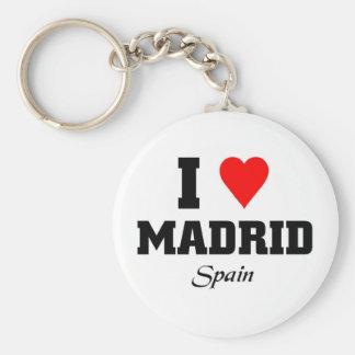 私はマドリード、スペインを愛します キーホルダー