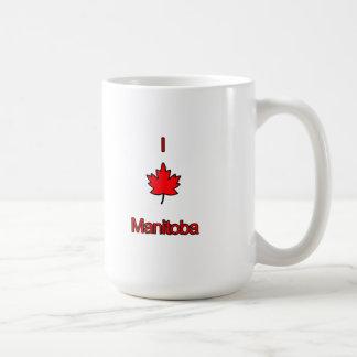 私はマニトバを愛します コーヒーマグカップ