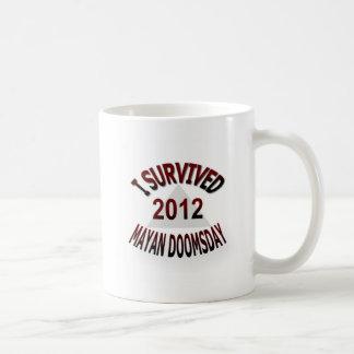 私はマヤの世界終末2012年を生き延びました コーヒーマグカップ