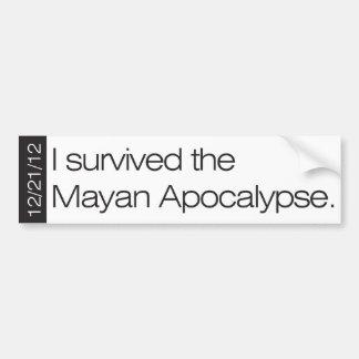 私はマヤの黙示録12/21/12を生き延びました バンパーステッカー