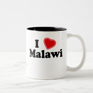 私はマラウィを愛します ツートーンマグカップ